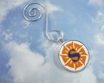 SUN COUNTRY AIRLINES Ornament Round Pendant Christmas Holiday Tree Decor Home Office Cute Gift Miniature Pilot Wife Wives Spouse