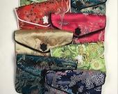 "SILK PURSES Chinese Vintage Elegant Brocade Assortment Jewelry Pouches 3"" x 4""  pkg8"