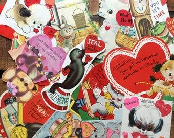 Vintage Valentines   Set Of 15 Cards   Vintage Valentine, Valentine Cards,  Paper Ephemera