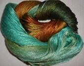 Hand dyed Tencel Yarn - 4/2 Tencel Lace Wt. Yarn  DRAGONFLY - 420 yards