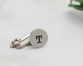 Wedding Tie Pin, Stamped Tie Tack, Personalized Tie Pin, Best Man Gift