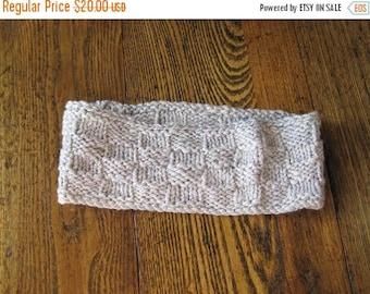 First Fall Sale - 15% Off Lavender Winter Headband - Hand Knit in Soft Handspun Wool and Silk