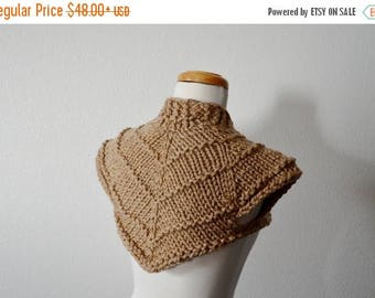 First Fall Sale - 15% Off Hand Knit Sweater - Future Bohemian High Cropped Bolero Jacket in Earthy Geometric Shapes. Post Apocalyptic Futuri