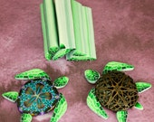 Add-A-Shell Turtle Kit -Set of 6 Polymer Clay Canes - 'Deep Blue Sea' series
