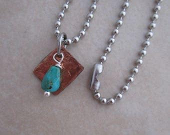 healing is not linear necklace turquoise copper girls women