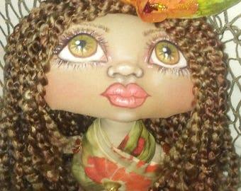 Hibby Merboo, A Cloth Art Doll by Liz Parent