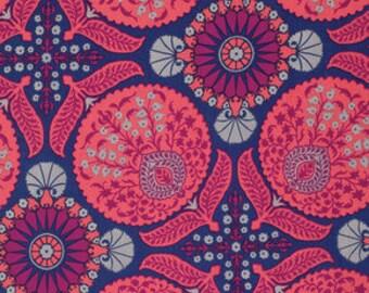 YARD -Joel Dewberry Fabric, Flora, Bazaar in Orchid  cotton quilting fabric