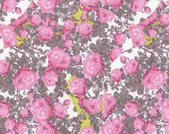YARD - Tina Givens, Rose Water, Topiary, Pink Floral cotton quilting fabric
