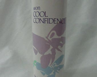 Solar Clearance Vintage Avon 90s Cool Confidence Collectible Display Perfumed Body Talc Powder