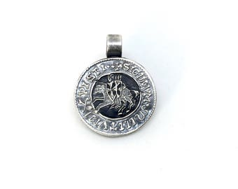 Seal of the Knights Templar silver necklace