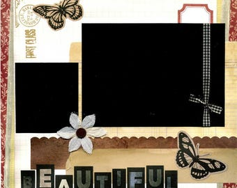Beautiful - Premade Scrapbook Page