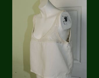 Vintage Edwardian Woman's Corset Cover Camisole with Hand Crochet