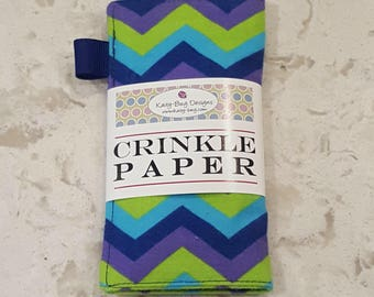 Crinkle Paper, Noise Making Toy for Babies, Infant toy, Purple Chevron by Kaity-Bug Designs