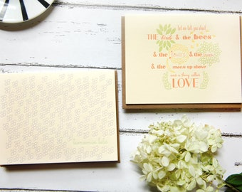 New Baby Congratulations Letterpress Card Assorted Set of 4