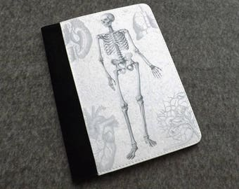 Gift for Doctor Notepad Cover medical student graduation skeleton notebook physician assistant male nurse goth memo pad holder refillable