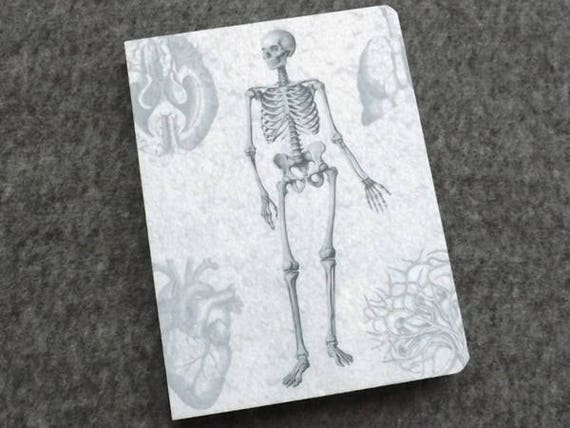 Notebook Medical Anatomy Gift Felt student graduation blank journal physician assistant male nurse practitioner sketchbook goth doctor pa md