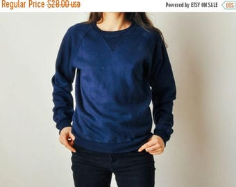 ON SALE Vintage Navy Sweatshirt