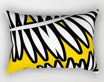 Decorative Pillow - Bold Color pillow - 14x20 Pillow Cover - Yellow pillow - Blue Pillow - Red Pillow - Modern pillow case