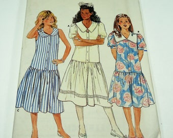 Butterick Fasy And Easy Girls' Dress Pattern 4771 Size 12 - 14