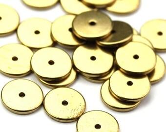 Metal Bead Spacers Flat Discs 8mm (12) M027