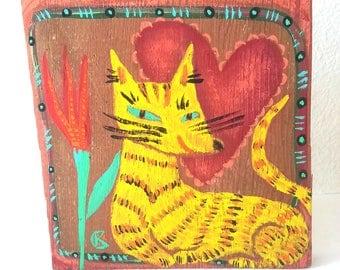 Texie Original Painting on Reclaimed Wood
