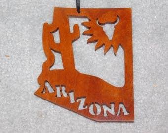 Wood State Ornament - Arizona