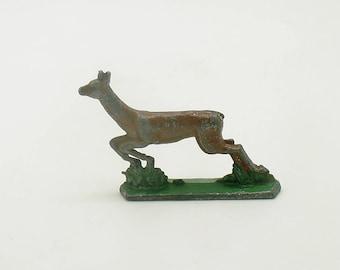 Antique Miniature Metal Deer Figurine Flachfiguren Germany