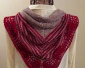 Scarlet Taupe Wool Cashmere Scarf