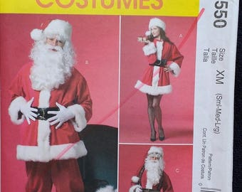 McCalls Santa Claus Mrs Claus Costume Pattern 5550