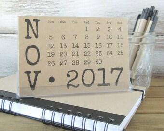 2017-2018 Desk Calendar with Stand 2018 Calendar Gift for Coworker Teacher Gift Gift for Mom Girlfriend Gift Stocking Stuffer Hostess Gift