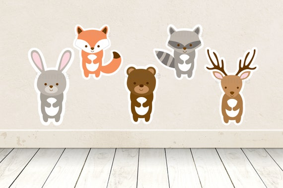 Cute Woodland Animal Cut Outs Woodland Baby Shower Woodland Baby