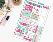 Flamingo Mini Weekly Planner Sticker Kit for Plum Paper Family (ME) Planners 7 x 9/ Functional Stickers/ Checklists  #336