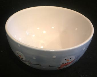Snowmen Cereal Bowl