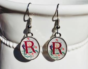 Letter R earrings