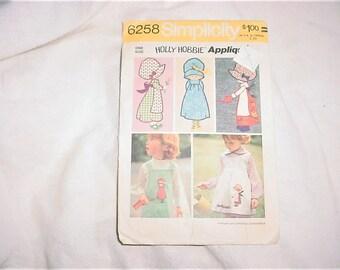 Vintage 70s Holly Hobbie Applique Pattern Simplicity