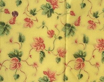 Vintage FABRIC Vines Duralee Decorator Sample Picotage 26 x 33