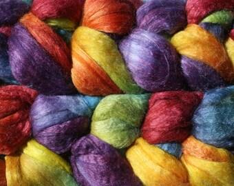 Polwarth Tussah Silk Spinning Fiber - 'AF451'