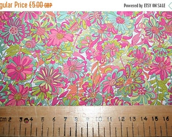 SUMMER SALE Liberty Tana Lawn WILLOW Rose  coral fat quarter