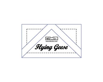 """Bloc Loc - Flying Geese Ruler 3/4"""" x 1 1/2"""" - Quilting Tool"""