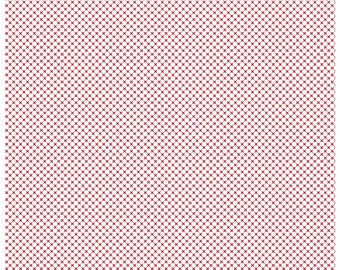 Kisses on Red on White (C220) - Riley Blake Designs