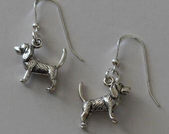 Sterling Silver BEAGLE DOG Earrings - 3D -  Canine, Pet