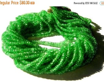 Sale 45% off Bright Emerald Green Natural Tsavorite Garnet Micro Faceted Rondelle Beads 8 inches 2 - 4mm Sooo Gorgeous