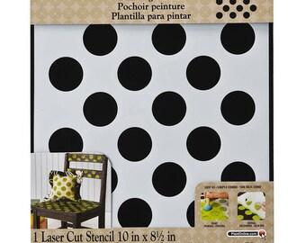 FolkArt Painting Stencils - Large Polka Dot 4375 fnt