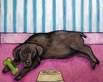 20% off Black Labrador Retriever art, tile, coaster, gift, modern, dog toy, dog bowl, abstract, JSCHMETZ