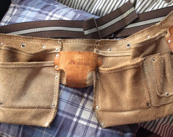 VINTAGE TOOLBELT FANNYPACK, leather, pouches, industrial,style, utility bag, waist pack