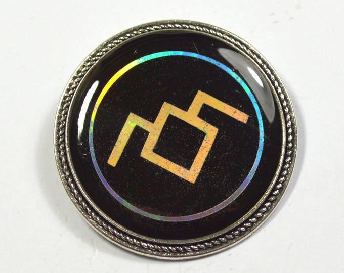 Twin Peaks Black Lodge Symbol Holographic Holo Resin Brooch