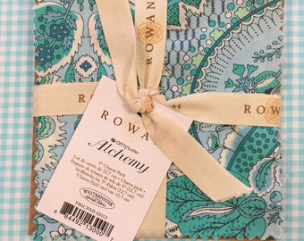 """Rare CHARM SET Amy Butler ALCHEMY Cotton Quilt Fabric - 12 Precut 5"""" Squares - Hard to Find - Out of Print"""