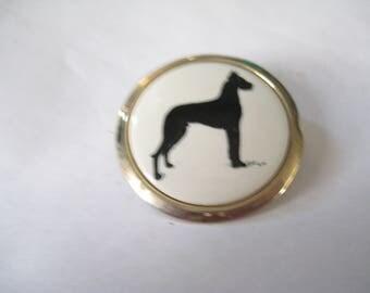 GREAT DANE Profile Cameo Dog Pin in Gold Tone Metal