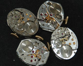 Vintage Watch Movements Parts Steampunk Altered Art Assemblage RB 93