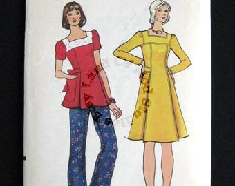 1970s Vogue pattern 8486 misses dress tunic and pants size 10 bust 32.5